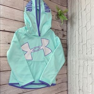 Under Armor Jumbo Logo Hoodie Girls Fleece